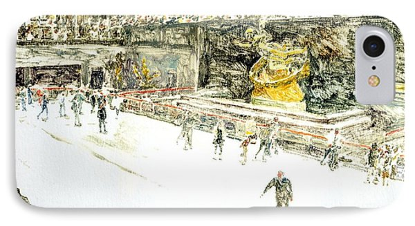 Rockefeller Center Skaters IPhone Case by Anthony Butera