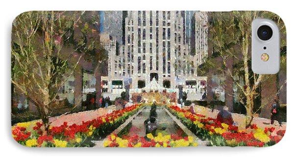 Rockefeller Plaza Phone Case by George Atsametakis