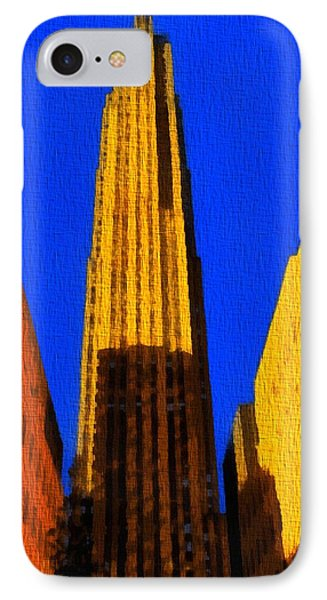 Rockefeller Plaza Pop Art IPhone Case by Dan Sproul