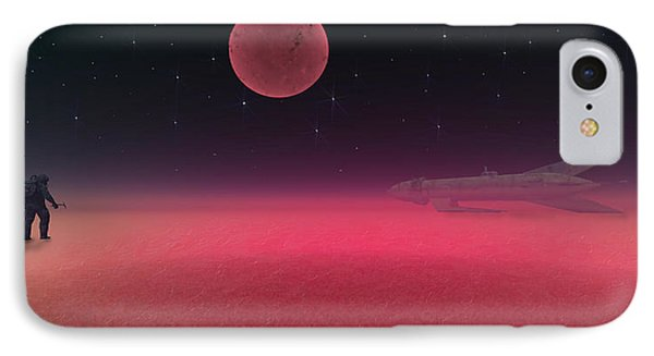 IPhone Case featuring the painting Rocket Man by Michael Cleere