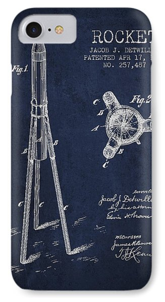 Rocket Patent Drawing From 1883 IPhone Case