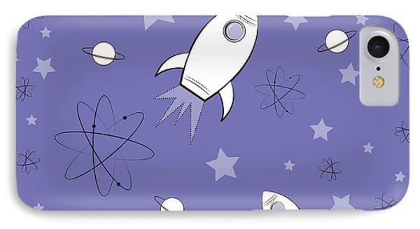 Rocket Science Purple Phone Case by Amy Kirkpatrick
