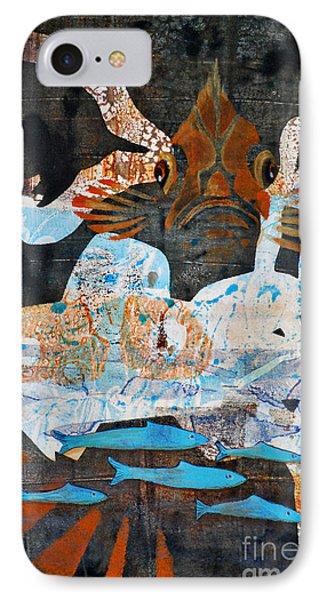 Rockfish And Rollfish IPhone Case by Cynthia Lagoudakis