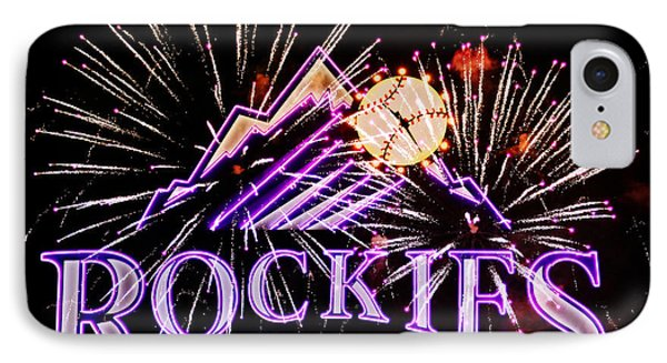 Rockies And Fireworks Phone Case by Bob Hislop