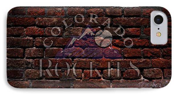 Rockies Baseball Graffiti On Brick  IPhone Case by Movie Poster Prints