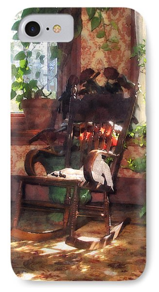 Rocking Chair In Victorian Parlor Phone Case by Susan Savad