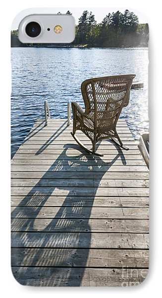 Rocking Chair On Dock IPhone Case