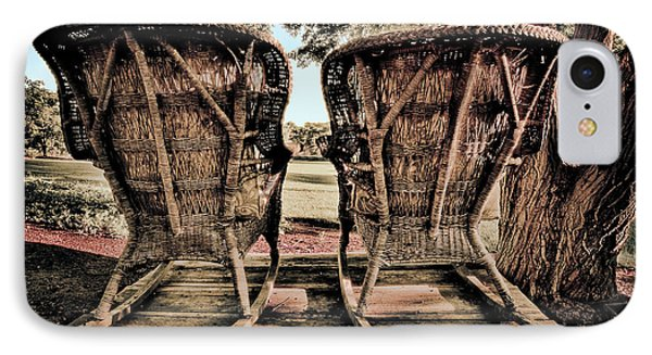 Rocking Chairs IPhone Case by Terry Garvin