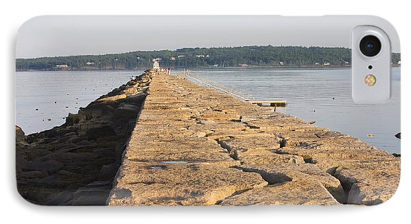 Rockland Breakwater Lighthouse Coast Of Maine IPhone Case