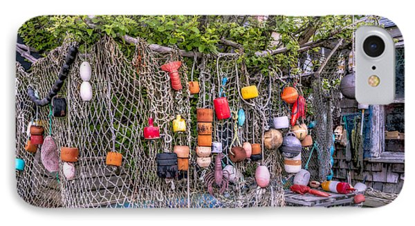 Rockport Fishing Net And Buoys IPhone Case by Susan Candelario