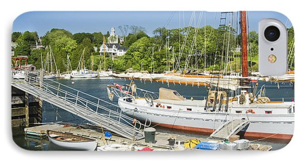 Rockport Harbor And Boats On The Coast Of Maine IPhone Case
