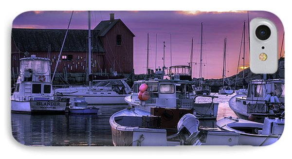 Rockport Harbor At Sunrise - Open Edition IPhone Case by Thomas Schoeller