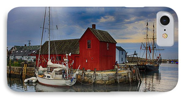 Rockport Harbor Motif Number 1 IPhone Case by Stephen Stookey