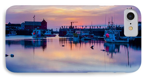 IPhone Case featuring the photograph Rockport Harbor Sunrise Over Motif #1 by Jeff Folger