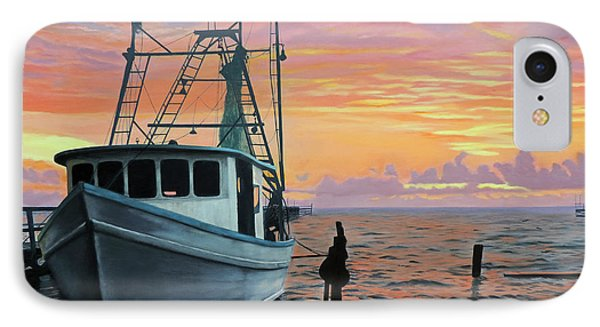IPhone Case featuring the painting Rockport Sunrise by Jimmie Bartlett