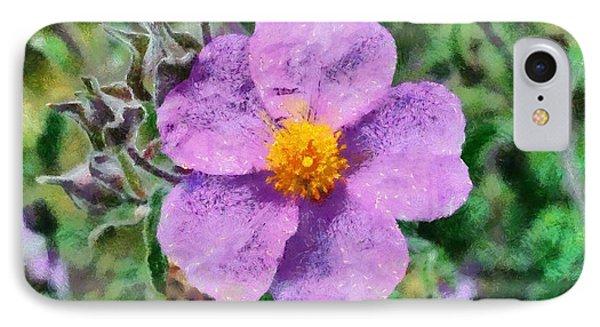 Rockrose Wild Flower Phone Case by George Atsametakis