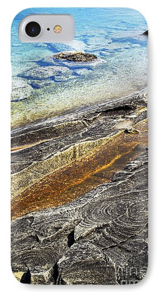 Rocks And Clear Water Abstract IPhone Case