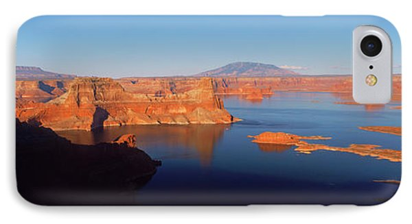Rocks In A Lake, Lake Powell, Utah, Usa IPhone Case by Panoramic Images