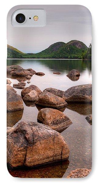 Rocks In Pond, Jordan Pond, Bubble IPhone Case