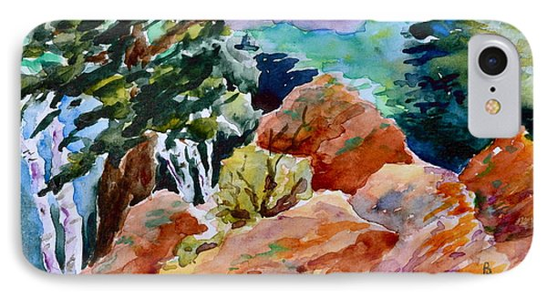 Rocks Near Red Feather IPhone Case by Beverley Harper Tinsley