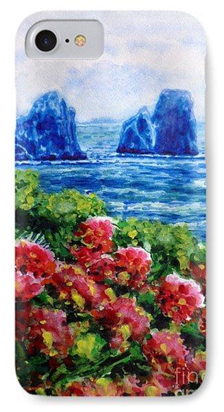 Rocks Of Capri Phone Case by Zaira Dzhaubaeva