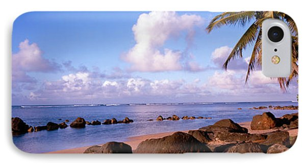 Rocks On The Beach, Anini Beach, Kauai IPhone Case by Panoramic Images