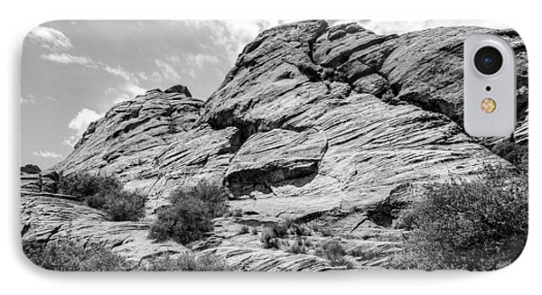 Rockscape In Greys IPhone Case by Denise Bird
