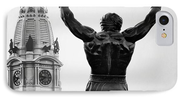 Rocky And Philadelphia IPhone Case by Bill Cannon