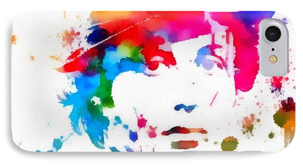 Rocky Balboa Paint Splatter IPhone Case by Dan Sproul