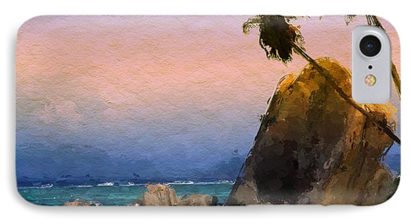 IPhone Case featuring the painting Rocky Beach by Wayne Pascall