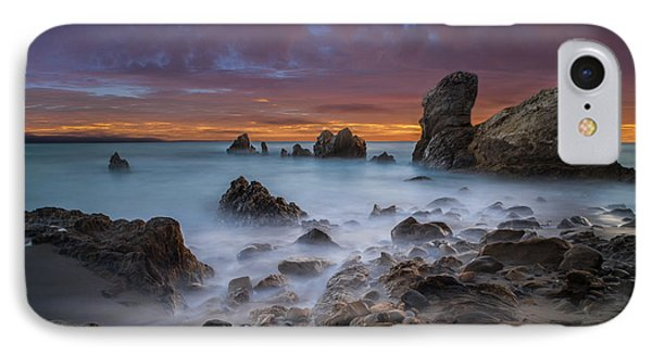 Rocky California Beach - Square IPhone Case by Larry Marshall