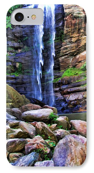 IPhone Case featuring the photograph Rocky Falls by Kenny Francis
