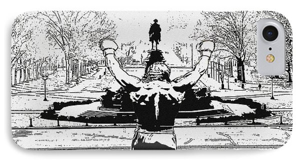 Rocky Is Philadelphia Phone Case by Bill Cannon