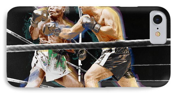 Rocky Marciano V Jersey Joe Walcott IPhone Case by Tony Rubino