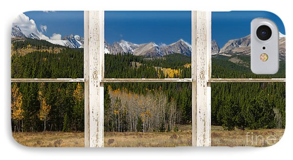 Rocky Mountain Continental Divide Rustic Window View IPhone Case by James BO  Insogna