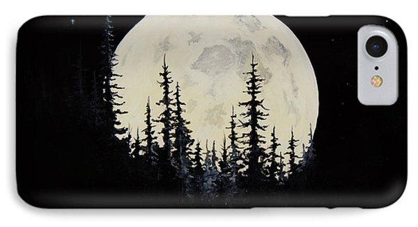 Rocky Mountain Moon Phone Case by C Steele