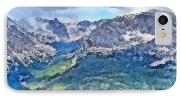 Rocky Mountain National Park Painting Phone Case by Dan Sproul