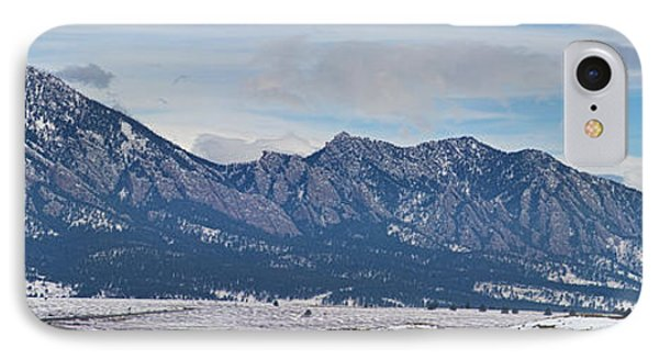 Rocky Mountains Flatirons And Longs Peak Panorama Boulder Phone Case by James BO  Insogna
