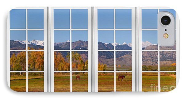 Rocky Mountains Horses White Window Frame View Phone Case by James BO  Insogna