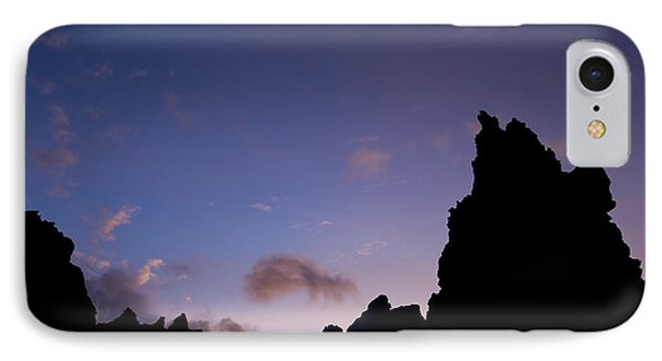 Rocky Purple Sunset Phone Case by Charmian Vistaunet