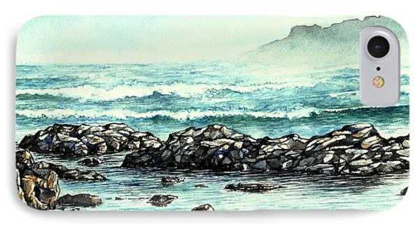 IPhone Case featuring the painting Rocky Seashore by Heidi Kriel
