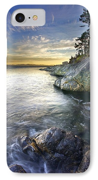 Rocky Shore At Sunset, Juan De Fuca Phone Case by Snorri Gunnarsson