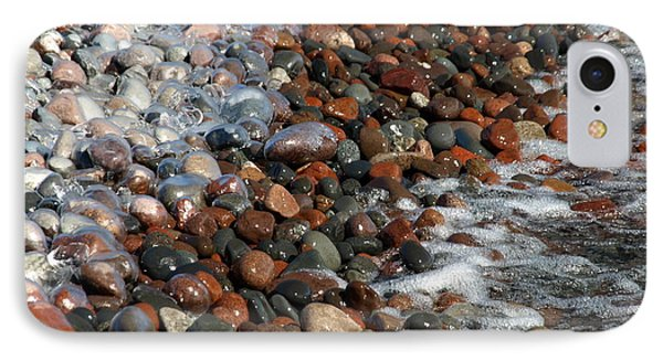 Rocky Shoreline Abstract IPhone Case by James Peterson