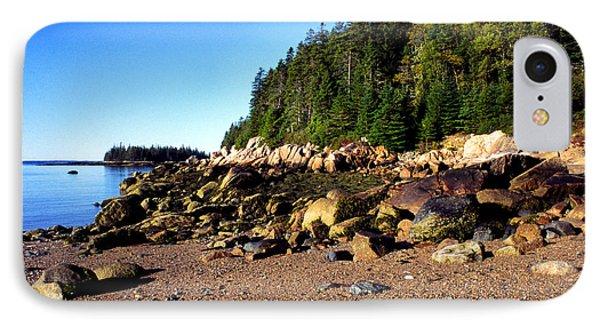 Rocky Shoreline Deer Isle Maine IPhone Case