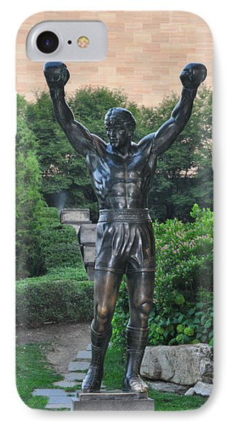 Rocky Statue - Philadelphia Phone Case by Bill Cannon