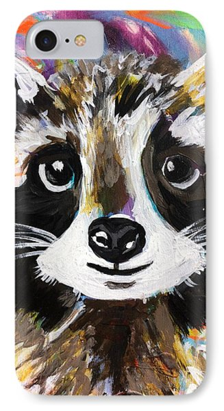 Rocky The Raccoon IPhone Case by Kim Heil