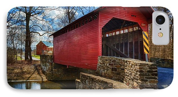 Roddy Road Covered Bridge IPhone Case by Joan Carroll
