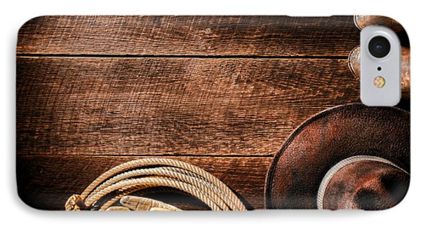 Rodeo Background Phone Case by Olivier Le Queinec