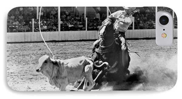 Rodeo Calf Roping IPhone Case by Underwood Archives