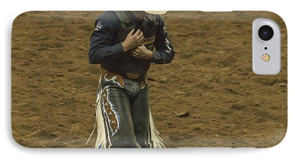 Rodeo Cowboy Dusting Off Phone Case by Janice Rae Pariza